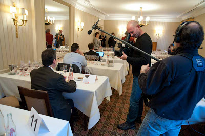 Photo Op: Shooting the 2011 European Grand Jury tasting.
