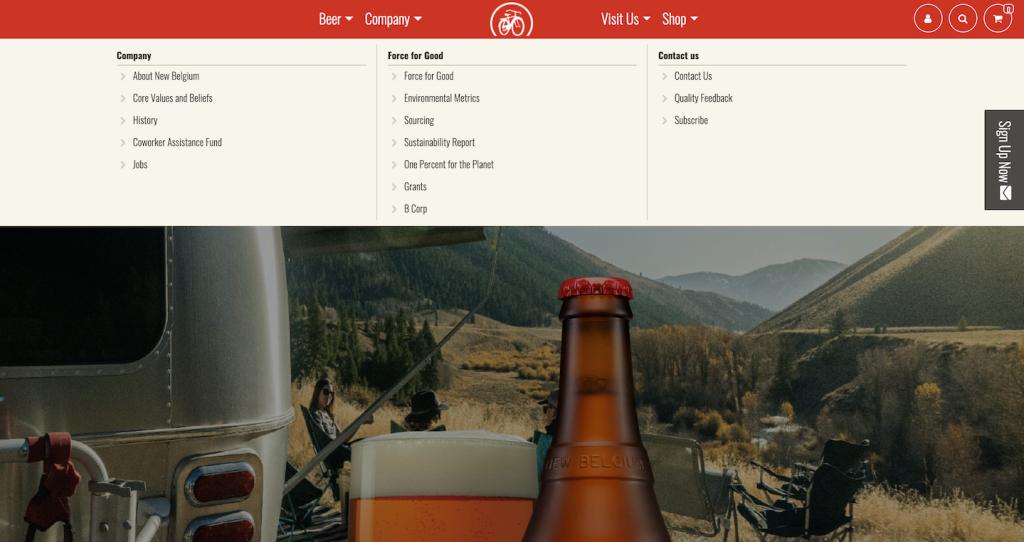 Fat Tire Beer Website