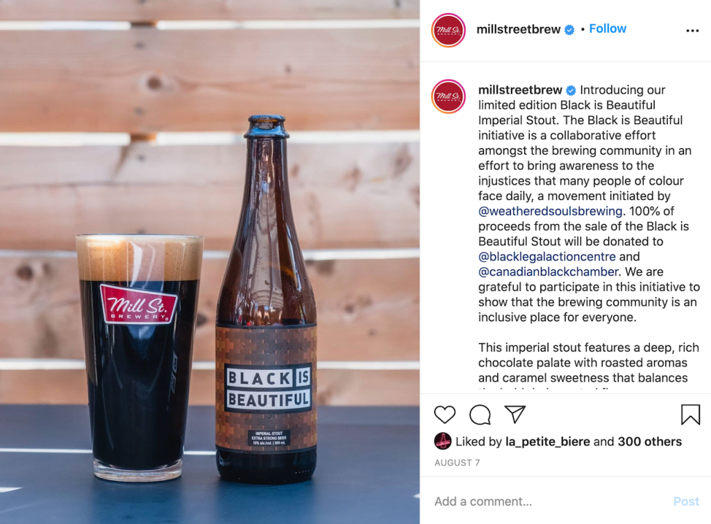 Black is Beautiful Imperial Stout from Mill Street to support black community in Toronto