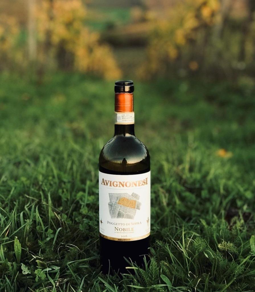 Bottle of Avignonesi red wine