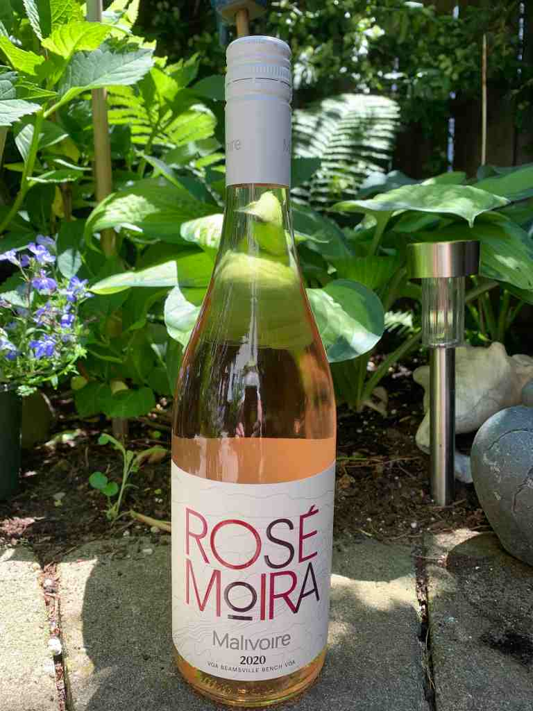 Bottle of Rose Moira that's pale pink
